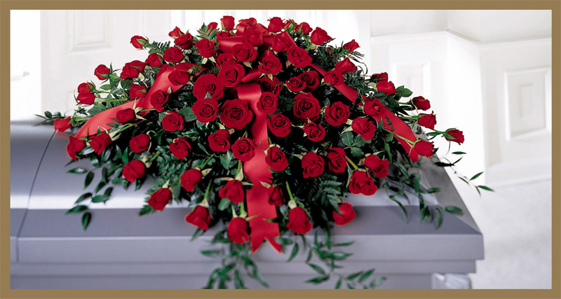 Sympathy Floral Collection FF 1 | Casket Spray 65 Roses