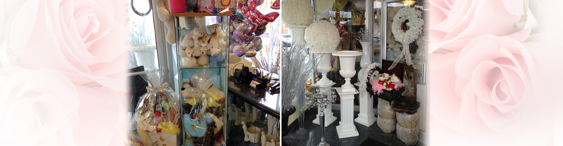 Store interior with gift displays